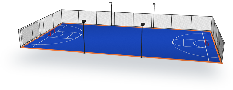 Court builder for Indoor sport court dimensions